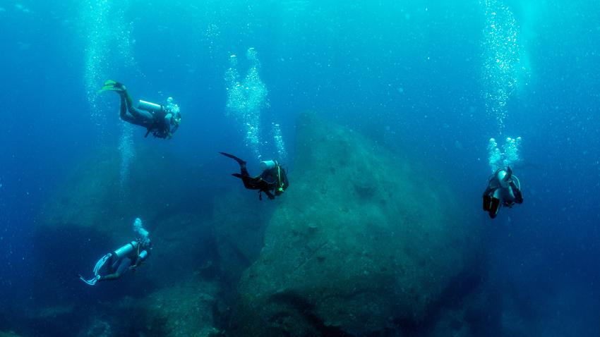 Similan diving boulders
