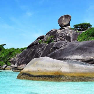 Donald Duck rock Koh Similan