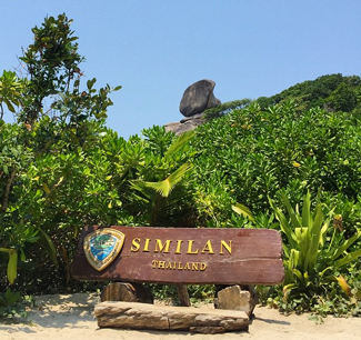 Similan Islands welcome sign