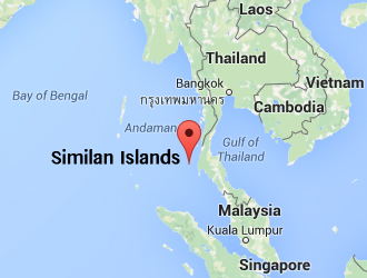Location Of The Similan Islands